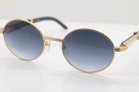Expédition blanche sans lunettes de soleil noires Horn 7550178 Taille: 55-22-140mm Matière métallique Buffalo Vintage Vintage Vintage Cadre Unisexe Sun LFDQ