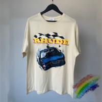 2021SS 티셔츠 남성 여성 1 고품질 인쇄 티 탑 2 스타일