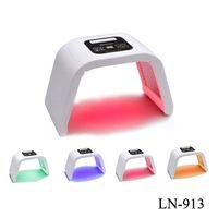 Terapia portátil 4 Color LED Terapia Cuidado de la luz Facial Dispositivo de luz Apretar la piel LED Beauty Salon Machine