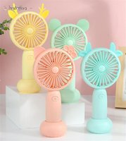 Handle Mini USB Gadgets Portable 5V Rechargable Fan for Student and Office With Gift Box Tiktok BJ08