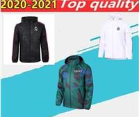 20 21 Gerçek Madrid Futbol Spor Ceket, Spurs Hoodie Chandal 2020 2021 Camiseta de FutBoll Modik Tam Zip Hoodie Ceket Spor Giyim
