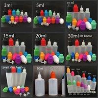 E garrafas líquidas 3ml 5ml 10ml 15ml 20ml 30ml dropper vazio lde plástico tampões de crianças longas agulhas finas para petróleo de vape