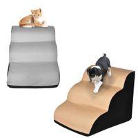 رغوة كلب القط السلالم سلالم غير زلة خرطوم صغير منحدر سلم 3 طبقات جرو هريرة السرير أريكة خطوات التدريب لعبة H0929