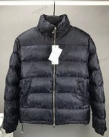 Dior down jacket Moda hombre letra nylon abajo chaqueta diseño macho invierno cálido tira cremallera con capucha Outwear de moda caballeros soporte collar abrigo