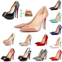 붉은 바닥 하이힐 럭스 여성 플랫폼 드레스 신발 여성 디자이너 엿보는 발가락 샌들 섹시한 뾰족한 발가락 붉은 솔 8cm 10cm 12cm 펌프 결혼식 누드 검은 빛나는 웨딩