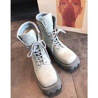 Роскошный дизайнер женские наполовину сапоги обувь зимний коренастый Med каблуки простые квадратные пальцы ног обуви дождевые ZIP женщин середины телят добыча износа устойчивый к толщему содительству A125