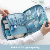 Bathroom Storage & Organization Multifunction Waterproof Oxford Travel Collection Bag Hand-held Double-layer Lady Makeup Korean Wash Cosmeti