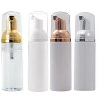 60ml Travel Foamer Bottles Empty Plastic Foam Bottles With Gold Pump Hand Wash Soap Mousse Cream Dispenser Bubbling Bottle