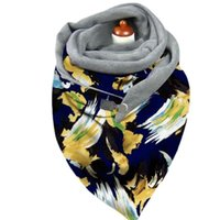 Scarves Women Winter Plush Lined Triangle Scarf With Clip Tie-Dye Paisley Butterfly Print Shawl Wrap Thermal Warm Blanket Poncho