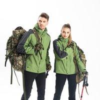 2020 vestes extérieures d'hiver personnalisées logo en deux pièces coupe-vent et velours velours chaud trois-en-un vêtements personnalisés