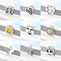 2020 En Kaliteli 925 Ayar Gümüş Kelebek Çiçek Kalp Klip Boncuk Fit Orijinal Refleksiyonlar Bilezik Charms Takı Yapımı Q0531