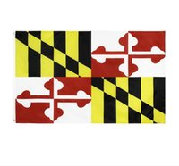 Maryland State Flag MD State Flag 3x5FT banner 100D 150X90CM...