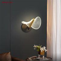 Duvar Lambaları 2021 Modern Tasarım Kavisli Akrilik LED Lamba Art Deco Lüks Oturma Odası Yatak Odası Koridor Loft İç Aydınlatma Armatürleri