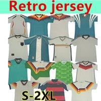 الرجعية ألمانيا 1990 1980 1994 1998 1992 Littbarski Ballack Soccer Jersey Klinsmann Matthias Home Shirt Kalkbrenner 1996 2006