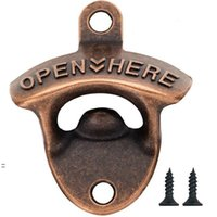 Vintage Wall Mounted Beer Bottle Opener Rustic Farmhouse Zinc Alloy Screws For Outdoor Rustics Cabinet Bar Soda Glass Cap Openers BWE8590