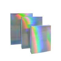 Caja de embalaje de papel láser Envoltura de regalo de impresión de bricolaje Caja de cosméticos de plata Cartón recubierto de cartón rectángulo Rectángulo Fiesta de moda 40WE G2