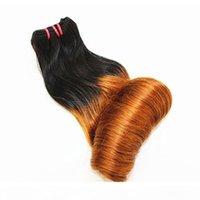 Funmi Super Double Drawn Ombre Uovo Curl Brasiliano Capelli Tessuti Bundles Destensione dei capelli umani T27 10-20inch
