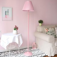 Floor Lamps Pink Children Lamp For Living Room Decoration Nordic Simple Girl's Bedroom Cloth Lampshade Standing Light Luminaire