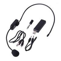 UHF Microphones sans fil Stage Système de microphone Système de microphone pour les haut-parleurs de haut-parleur Tour Guide Guide Tour Karaoke1