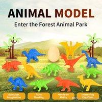 Novità Mini Dinosaur Set uovo Set simulazione Dinosauro Foresta Animale Parco Giocattolo modello per i primi bambini Ragazzi Intelligence regalo 01