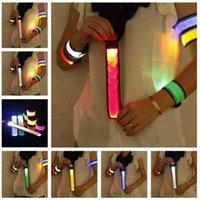 Pop Circle Flash Arm Wristband With LED Luminous Bracelet Children's Fluorescent Wrist Band Night Running Bar Atmosphere Props G73X95V