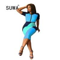 Vestidos Africanos para Mulheres Trabalho Roupas Moda Senhoras Patchwork Longo Bodycon Dress Mujer Vestido Vintage Casual Sundress 210525