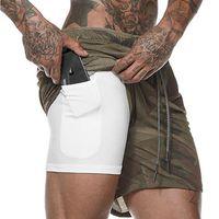Мужские шорты CrossFit MMA Tactics Training Joggers Gym со встроенным карманным лайнером Камуфляжная одежда