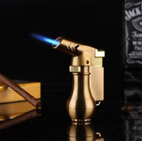 Mini-Spritzpistole Kompaktes Butan-Strahl-Feuerzeug-Fackel-Turbo-Feuerzeug 1300 ° C-flazter, winddichter Metall-Strahl-Feuerzeug ohne Gas