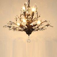 Lámpara de techo de la rama del árbol de la vendimia de los canales de cristal, un accesorio montado en la luz de la luz colgante, 12 luces para el comedor vivo Restaurant Porch Hallway (Oro)
