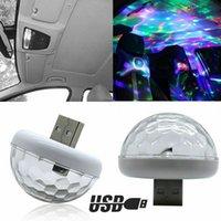 USB Atmosphere Light LED Sound Control Car Atmosphere Light Ambient lamp DJ Car Projector Light Colorful Laser lamp