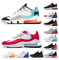 270 Erkek Moda Koşu Ayakkabıları 270s Siyah Zirvesi Beyaz Midnight Donanma Kaktüs Zarel Olarak Rose Reaact Bauhaus Bayan Açık Eğitmenler Spor Sneakers 36-45