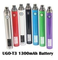 Original UGO T3 Batteries 1300mAh 510 Thread Vape Pen Preheat Battery Variable Voltage Dual Charger Port Ecig For Thick Oil Vapes Cartridges 100% Authentic