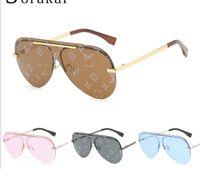 Vente en gros de nouvelles lettres d'impression de haute qualité lentilles lentilles lentilles de crayon de pain lunettes de soleil de luxe lunettes de soleil de luxe