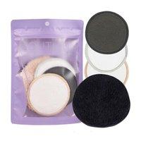 Schwämme, Applikatoren Baumwolle 4pcs / set Make-up Remover Puff Gesicht Wash Set Reinigungshandtuch Wiederverwendbar