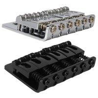 6弦65mm金属固定ハードテールサドルブリッジトップロードギターテールピース、クロム、ブラック