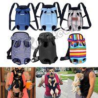 Pet Cat Dog Front Arriver рюкзак регулируемый щенок передних ножей ноги из путешествия сумка сетки холст домашних животных сумка сумка держит сухой ходьбу открытый Bagsg703325