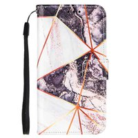 Marble Pattern Case For Apple iPhone 13 12mini 11 Pro XR XS Max7 8Plus 6 mobile phone shell PU leather case Wallet with stand handline