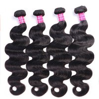 Brazilian Virgin Hair Body Wave 1B Ombre 100% Human Hair Extensions 4 Bundles 1b Double Wefts 4 Pieces Remy India hair Weaves