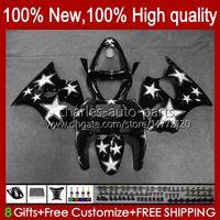 Body Kit For KAWASAKI NINJA ZX-6R ZX-636 ZX600 ZX6R 98 99 Bodywork 16No.68 ZX-600 600CC ZX636 1998 1999 ZX 636 600 CC 6 R 6R ZX600CC 98-99 Motorcycle Fairing white black