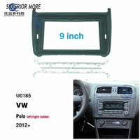 2 din 9 inch car radio Fascias for VW POLO 2012 Dashboard Frame Installation dvd gps mp5 android Multimedia player