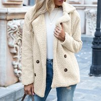 Autumn and winter button lapel loose cashmere sweater cardigan sheep cake wool coat female