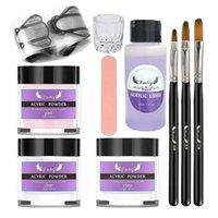 Nail Art Kits Acryl Set DIY-Erweiterung mit Pinseldatei UV Gel Polish Crystal Liquid Anfänger