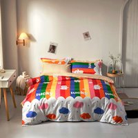 Cartoon Cow Pattern Bedding Set Cute Girls Duvet Cover Single Double Queen King 220x240 Bed Linens Sheets Rainbow Quilt Covers