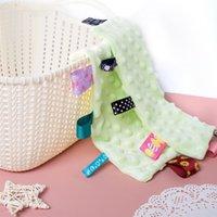 مناديل القطن الصلبة اللون الكرتون طباعة اللعاب منشفة الطفل بنين بنات مثلث مناشف DWA8055