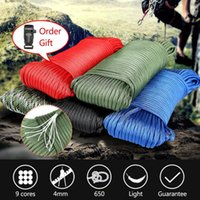 Outdoor Gadgets Paracord parachute Cord 102 Feet Mil-spec Paracord 9-strand Core 650lb Polyester Parachute Rope Wear-resistant Umbrella