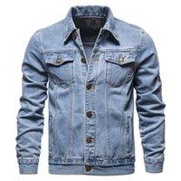 Uomini Jeans Giacche Light Blue Denim Cappotti di alta qualità Cotone Slim New Spring S Billa S Jean
