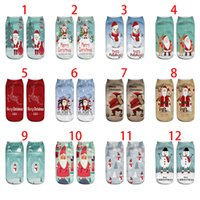 Christmas Socks 3D Printed Pattern Santa Claus Emoticons Men And Women Soft Texture Socks Christmas Gift Free DHL