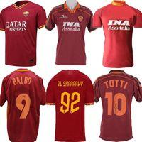 1996 1997 1998 1999 2000 2019 Retro Roma Home Totti Giannini Soccer Jersey 89 90 91 92 Como Roma Clássica Comemorate Coleção Camisa de Futebol