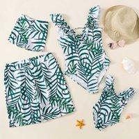 Summer Baby Girl Woman Bikini Swimsuit Kids Family Matching Swimwear Father And Boy Swimming Trunks Family Clothing Sets 210607