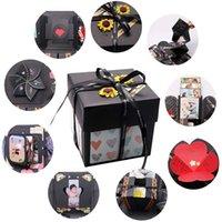 Creativo esplosione foto bomba scatola fai da te scrapbook esagonale amore esagonale nota esplosibile box festival compleanno regalo a sorpresa 688 k2